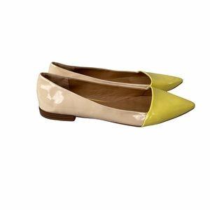 Zara Trafaluc Nude/Yellow Ballet Flats